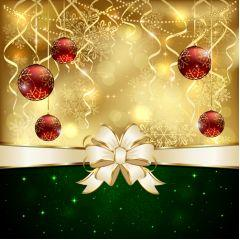 イルミネーションの美しいメリークリスマス ベクター素材