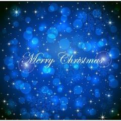 クリスマスを際立たせる奥深いブルーの背景 ベクター素材