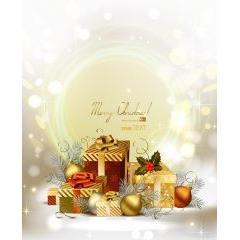 輝かしいクリスマスプレゼント ベクター素材