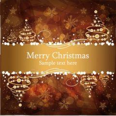 セピア色のクリスマスカードデザイン ベクター素材