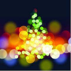 イルミネーションクリスマス イラストレーターベクター素材