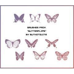 華麗に舞う、きれいな蝶のブラシで簡単優雅なデザイン Photoshop用ブラシ