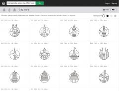 無料で使える世界の有名都市のランドマークイラストのラインアイコン