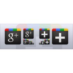 Google+ベクターアイコンセット