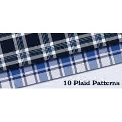 シームレスな継ぎ目のない格子柄のパターン素材10個