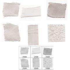 紙の断片のブラシセット