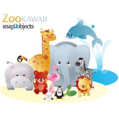 かわいい動物12種類のベクター素材