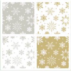 エレガントで高級感のある雪の結晶 photoshop パターン素材