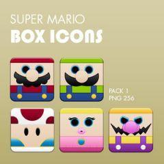 かわいいスーパーマリオボックスアイコン1