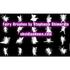 立って座って踊ってと妖精たちが華麗に舞い遊ぶ photoshopブラシ素材