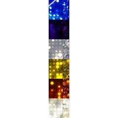 抽象的な光がキラキラ輝くphotoshopパターン素材