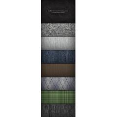 8種類の織物デザインテクスチャ、パターン素材
