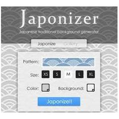 和風壁紙素材を作成できるジェネレーターJaponizer
