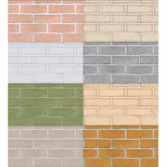 柔らかいタッチが素敵な15色のレンガブロック パターン素材