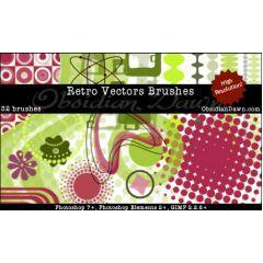 レトロスタイルのPhotoshop用ブラシセット