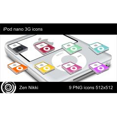 きれいなiPod nano 3G アイコンセット