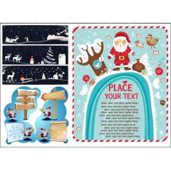クリスマスのイラストが素敵なデザイン ベクター素材