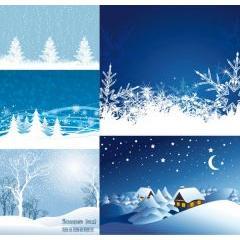 雪景色がとても美しい ベクター素材