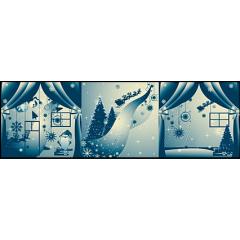 氷結のようなブルークリスマス イラストレーションベクター素材