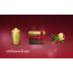 3Dクリスマスアイコン素材セット