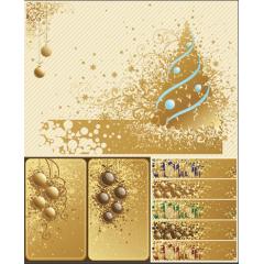 ゴールドクリスマス、背景、バナー、カードデザイン ベクター素材