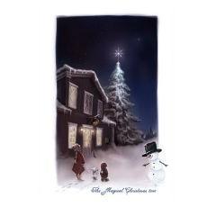 物語のワンシーンのようなクリスマス壁紙素材