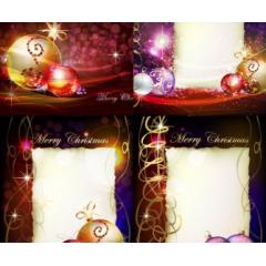 抽象的で美しいクリスマスベクター素材