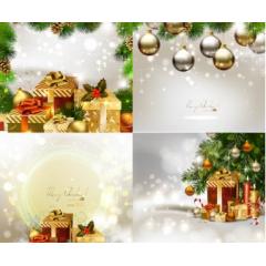 メリークリスマスを祝うためのカード ベクター素材