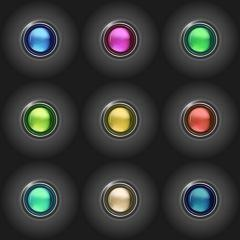 Glassy Buttons 2 Vector