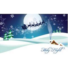 クリスマスholy night ベクター素材