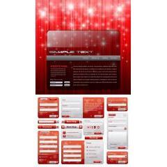 WEBデザインのクリスマス仕様がとても可愛い! ベクター素材