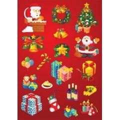 クリスマスグッズがいっぱいのデザインベクター素材