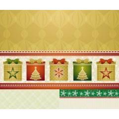 箱に描かれるツリーが可愛い!クリスマス仕様のパターン素材