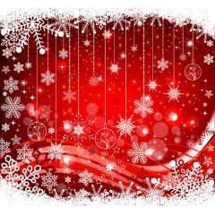雪とイルミネーションが豪華でにぎやかなクリスマスデザイン ベクター素材