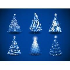 個性豊かに表現されているクリスマスツリー ベクター素材