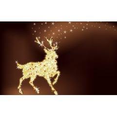 クリスマスの輝きに包まれたトナカイ ベクター素材