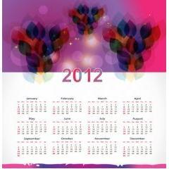 抽象的なカラフルカレンダー素材 ベクター