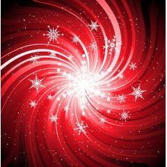 ブラックホールのような雪の結晶 ベクター素材