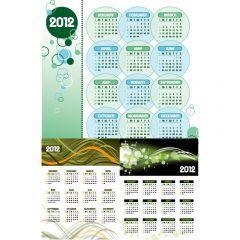 癒し系の雰囲気が漂う2012年カレンダー素材