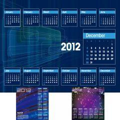 スペースデジタルな近未来カレンダー