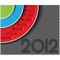 お洒落なサークル型の2012年カレンダー素材