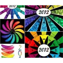 アートで芸術的なデザインがかっこいい2012年カレンダー素材