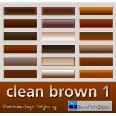 透明感がある茶色系ボタンデザイン Photoshop レイヤースタイル素材