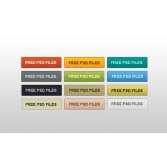 ベーシックなカラフルwebボタン素材 PSDファイル