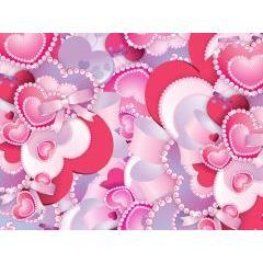 ハートがいっぱい!バレンタインのためのベクター素材。