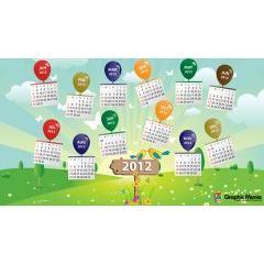 サイズが豊富に選べちゃう2012年カレンダー素材6種類