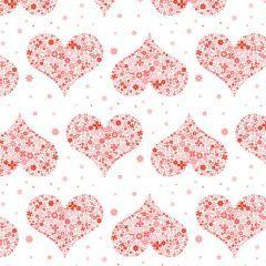 5種類のバレンタインパターン素材
