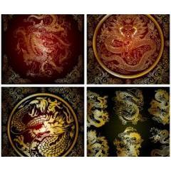 神々たる龍の紋章 ベクター素材