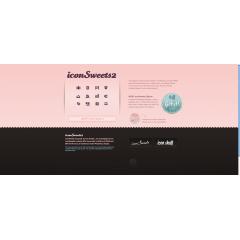 女の子のためのアイコンSweets2 PSD素材