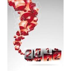 切り替わる瞬間をとらえた2012年グラフィックデザイン 壁紙素材